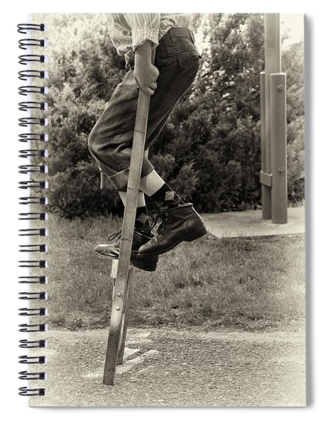 First Time On Stilts At White Pine Village In Ludington Michigan Spiral Notebook