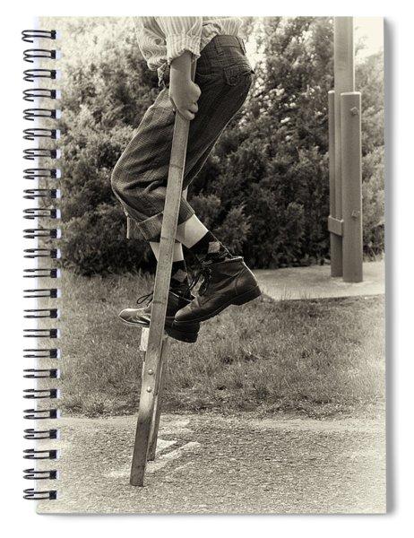 First Time On Stilts At White Pine Village In Ludington Michigan Spiral Notebook