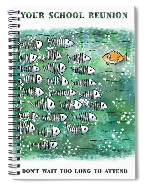 Fish School Reunion Spiral Notebook