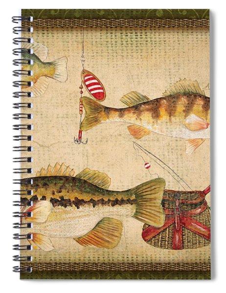 Fish Trio-a-greenborder Spiral Notebook