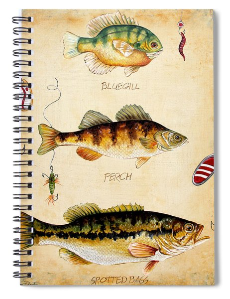 Fish Trio-c Spiral Notebook by Jean Plout