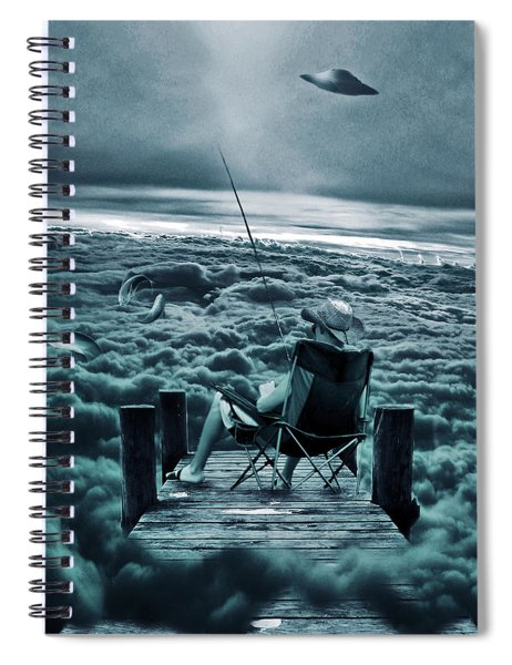 Fishing Above The Clouds Spiral Notebook
