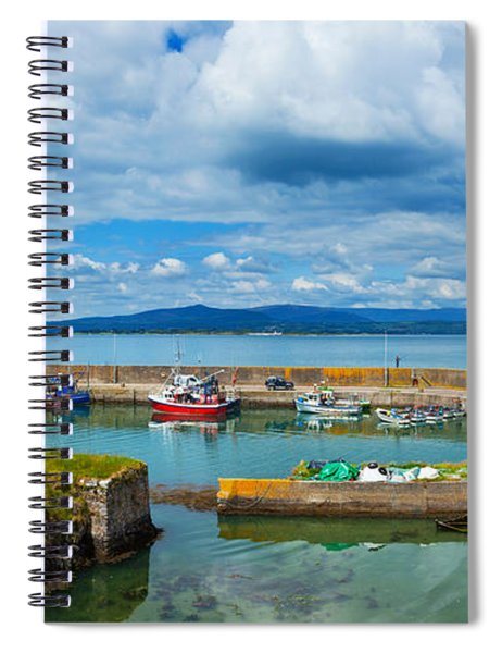 Fishing Boats At A Harbor, Helvick Spiral Notebook