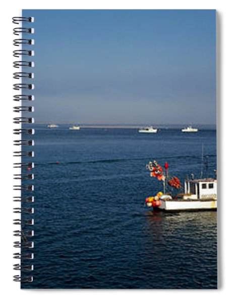 Fishing Boats In An Ocean, Cape Cod Spiral Notebook