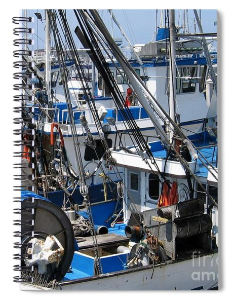 Fishing Boats In Monterey Harbor Spiral Notebook