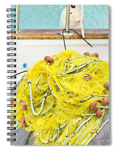 Fishing Net Spiral Notebook