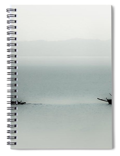 Fishing On The Philippine Sea   Spiral Notebook