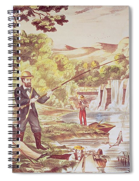 Fishing Scene Spiral Notebook