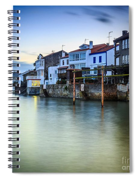 Fishing Town Of Redes Galicia Spain Spiral Notebook