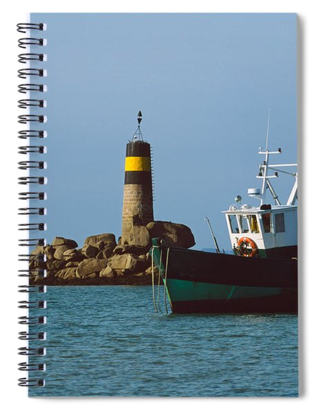 Fishing Trawler In Front Spiral Notebook