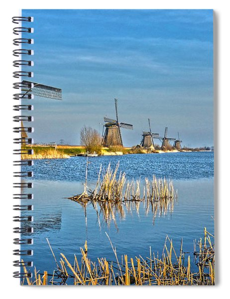 Five Windmills At Kinderdijk Spiral Notebook