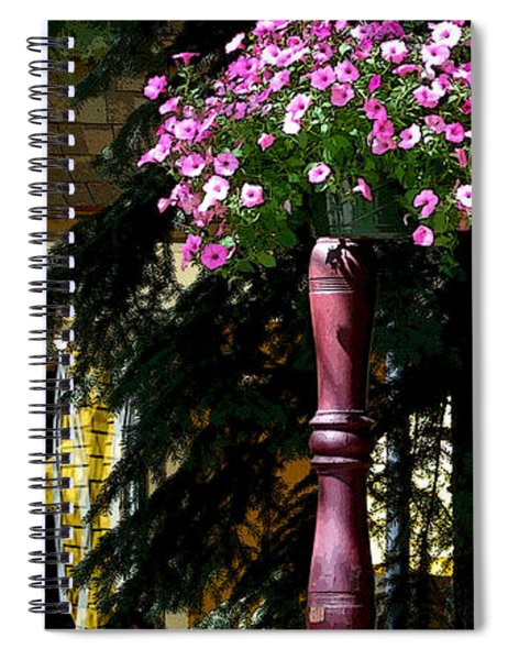Flag And Flowers 6110 Pe Spiral Notebook