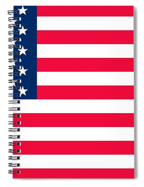 Flag Of The United States Of America Spiral Notebook