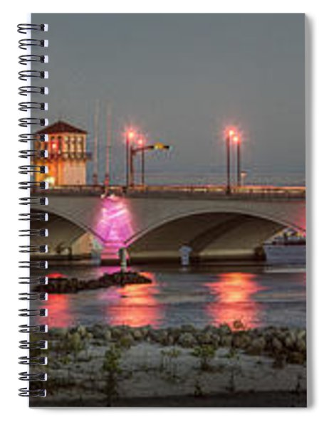 Flagler Bridge In Pink Spiral Notebook