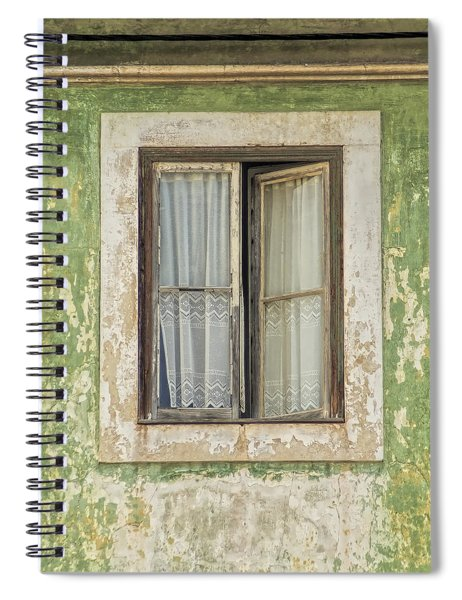Flaking Wood Window Spiral Notebook