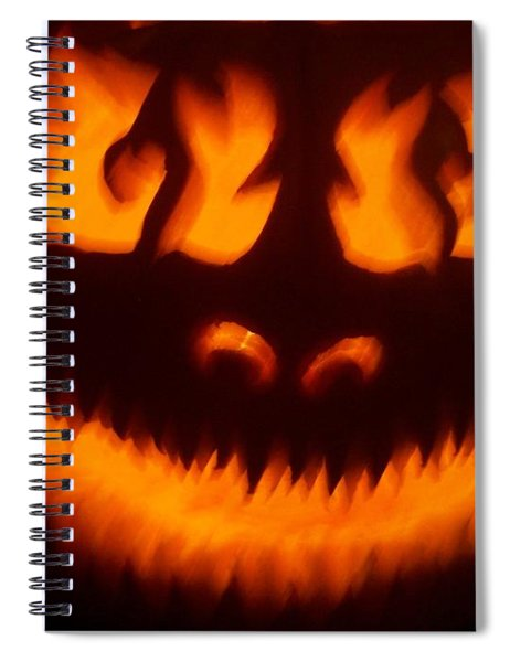 Flame Pumpkin Spiral Notebook