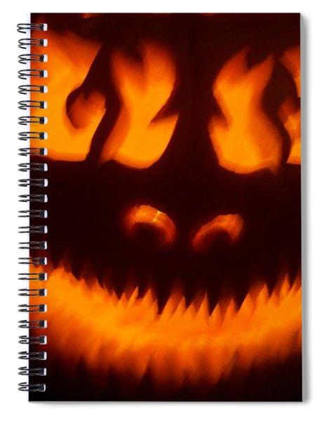 Flame Pumpkin Spiral Notebook