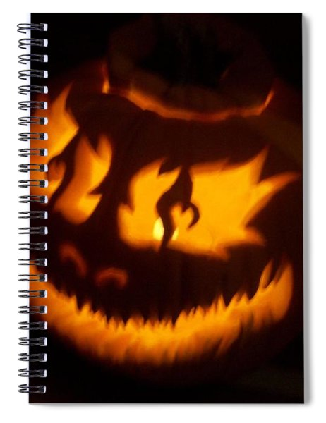 Flame Pumpkin Side Spiral Notebook