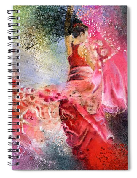 Flamencoscape 13 Spiral Notebook