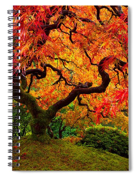 Flaming Maple Spiral Notebook