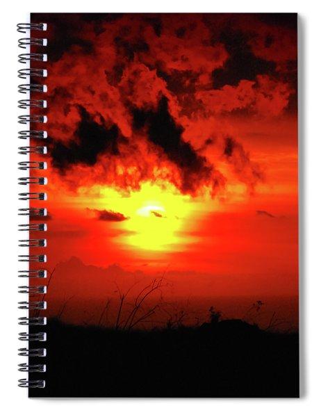 Flaming Sunset Spiral Notebook