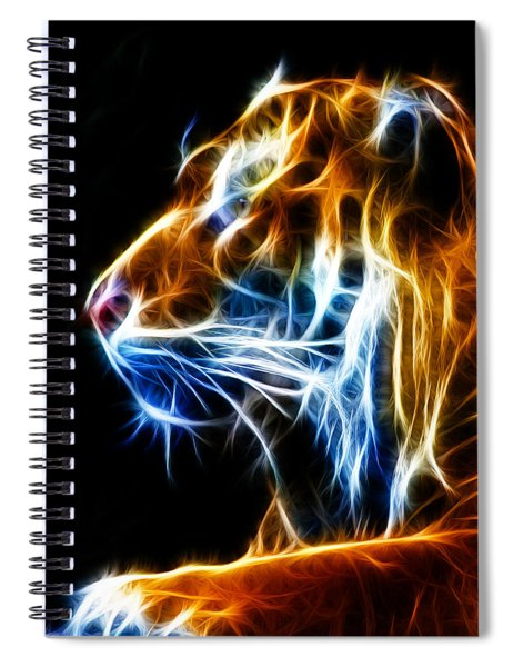 Flaming Tiger Spiral Notebook