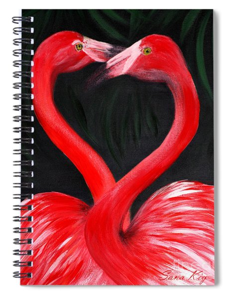 Love  Is... Flamingo Love. Inspirations Collection Spiral Notebook