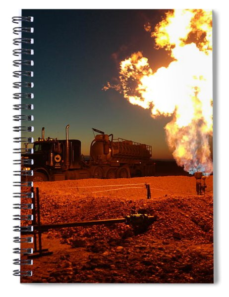 Flare And A Vacuum Truck Spiral Notebook