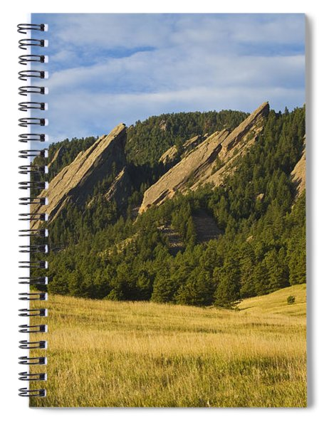 Flatiron Morning Light Boulder Colorado Spiral Notebook