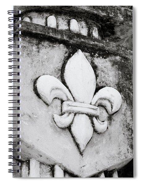 Fleur De Lys Spiral Notebook