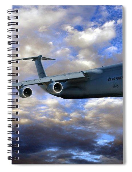 Flight Of The Galaxy Spiral Notebook