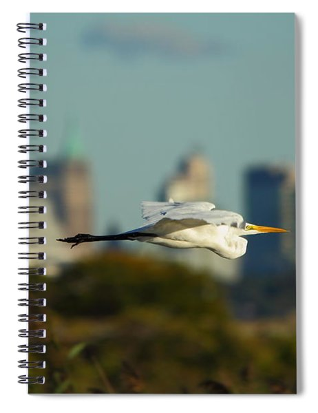 Flight Of The Great Egret Spiral Notebook