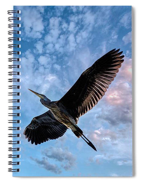 Flight Of The Heron Spiral Notebook