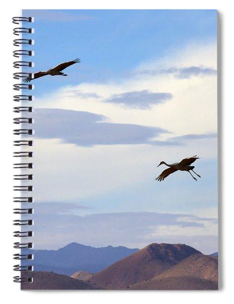 Flight Of The Sandhill Cranes Spiral Notebook