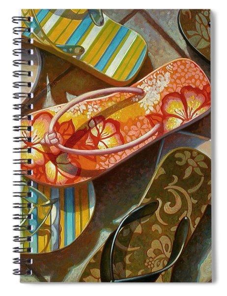 Flip Flops Spiral Notebook
