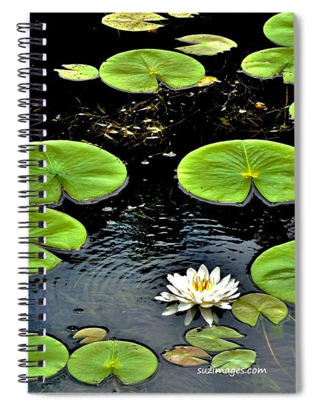 Floating Lily Spiral Notebook