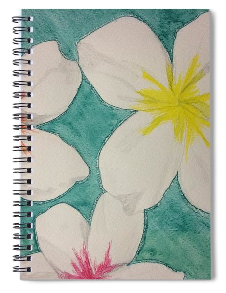 Floating Plumeria Spiral Notebook