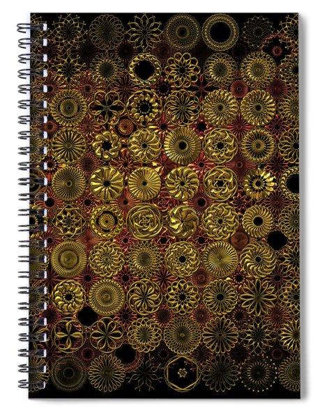 Flora Spiro Metal Quilt Spiral Notebook