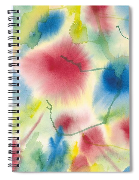 Floral Burst Spiral Notebook