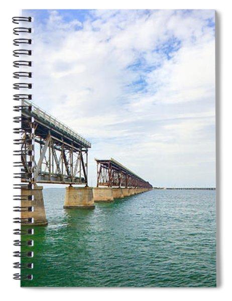 Florida Overseas Railway Bridge Near Bahia Honda State Park Spiral Notebook