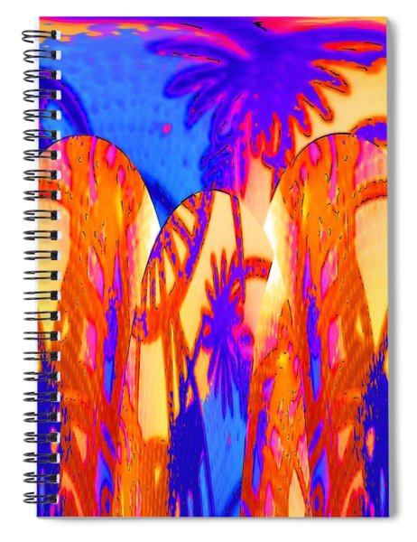 Florida Splash Abstract Spiral Notebook