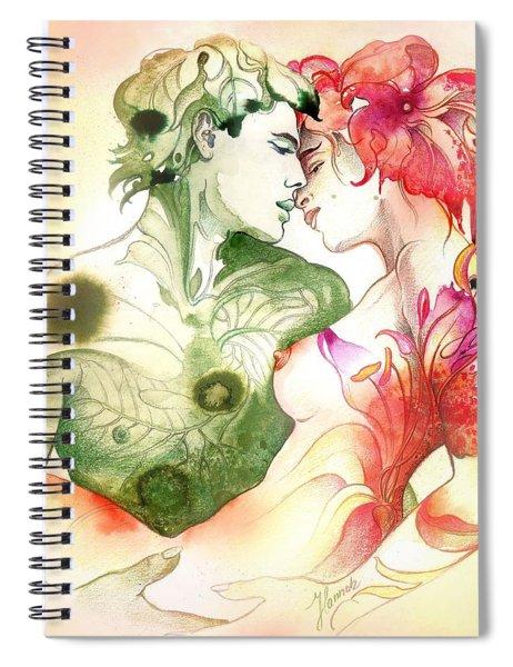 Flower And Leaf Spiral Notebook