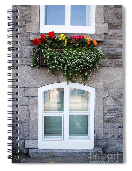 Flower Box Old Quebec City Spiral Notebook