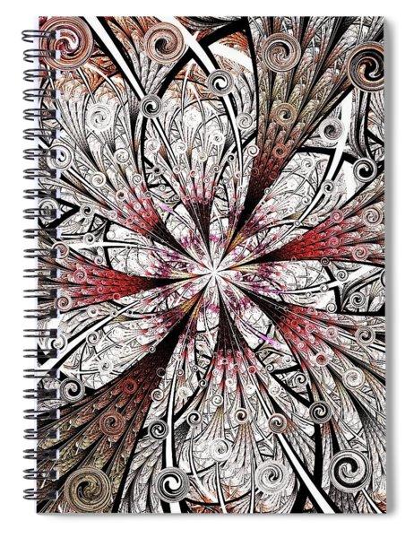 Flower Carving Spiral Notebook