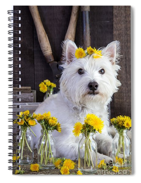 Spiral Notebook featuring the photograph Flower Child by Edward Fielding