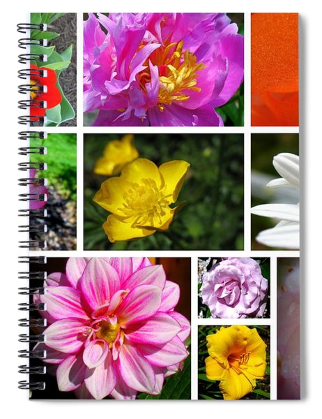 Spiral Notebook featuring the photograph Flower Collage by Patti Whitten