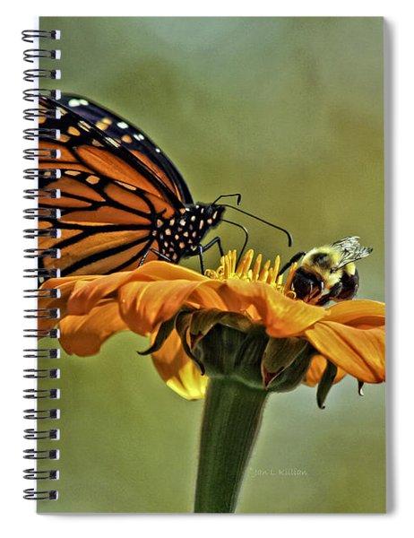 Flower Duet Spiral Notebook