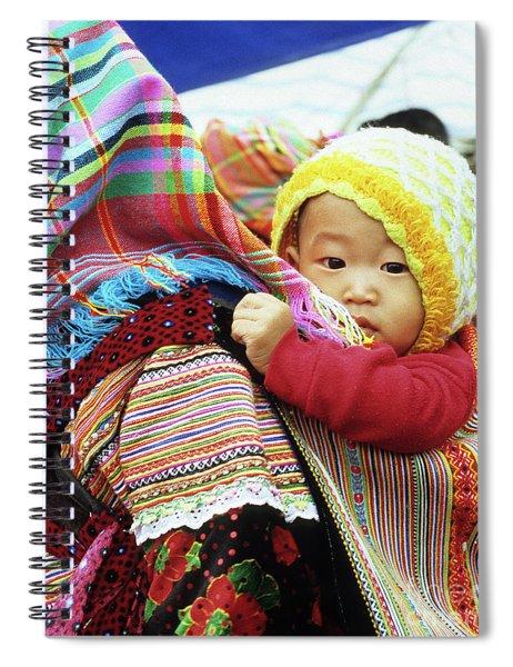 Flower Hmong Baby 04 Spiral Notebook