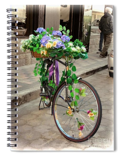 Flower Power Meets Pedal Power  Spiral Notebook