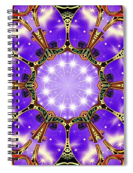 Spiral Notebook featuring the digital art Flowergate by Derek Gedney